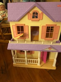 Doll House by Fisher Price, folds up with some furnishings. Beverly, 01915