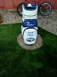 white and blue Fidra golf bag 1949 mi