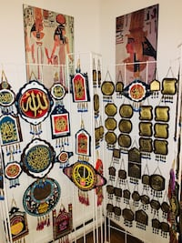 Hanging wall leather and copper and glass Islamic hand made  Montréal, H1M 3E1