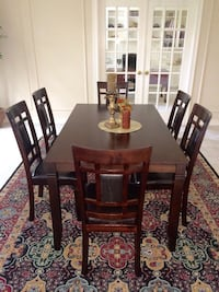 7-Pc Breakfast Dining Table w/ 6 Chairs Richmond, 77407