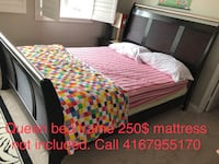 Queen bed frame  Oshawa, L1G 7X9
