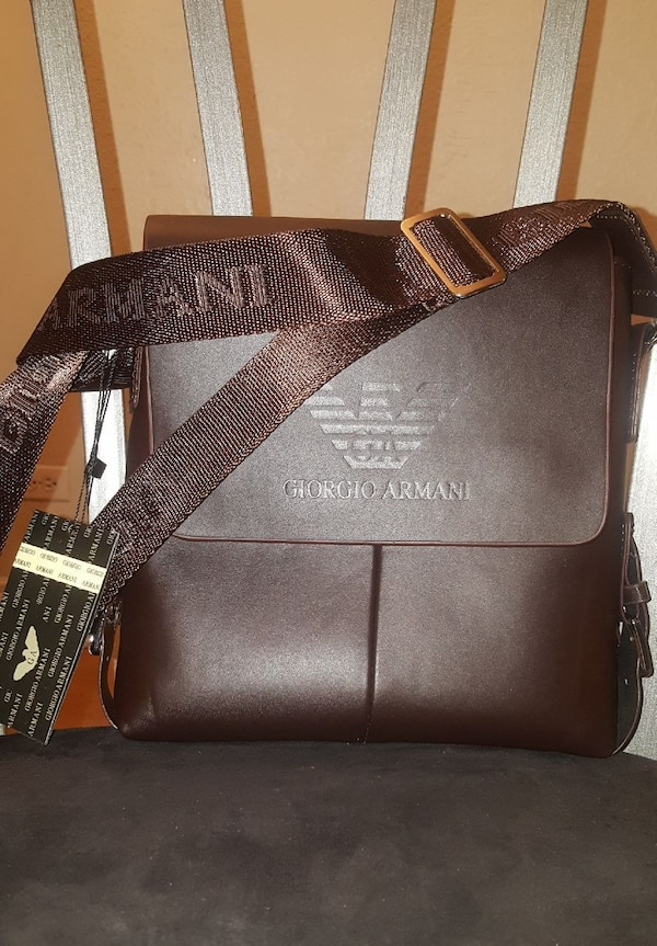 Used Brown Giorgio Armani leather sling bag for sale in Parker - letgo 23f1a0cd8be4a