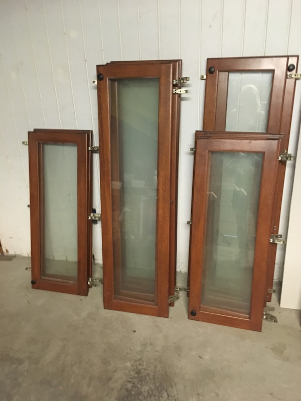 kitchen cabinet doors with glass inlay