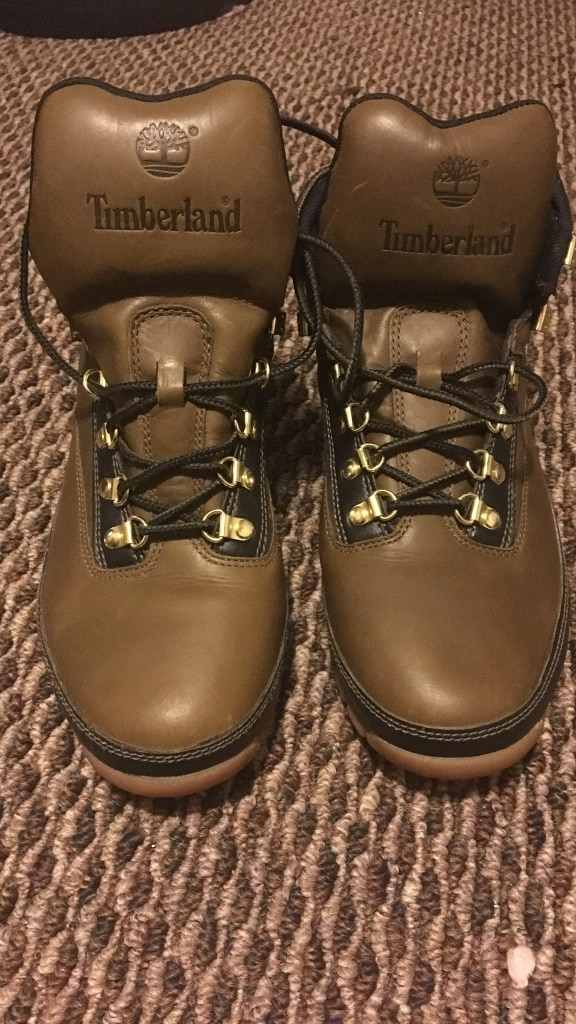 Pair of brown leather Timberland boots