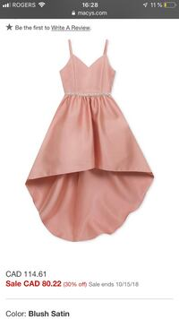 Kids pink spaghetti strap dress Laval, H7G