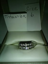 New titanium ring with CZ chips Inverness