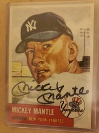 Mickey Mantle autographed card 442 mi