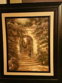 Arch with Flowers - Large Canvas Framed Painting Dayton, 21036