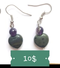 AMETHYST & KAMBABA JASPER EARRINGS 10$ Ottawa, K1G