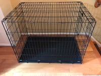 Black metal folding dog crate Bethesda, 20814