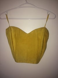 Vintage Danier suede yellow bustier New Westminster, V3L 1E4