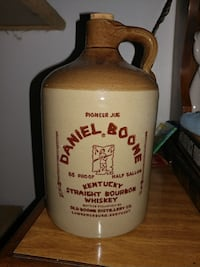 Antique stone whiskey jug Estell Manor, 08319