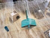white and blue pet cage 108 km