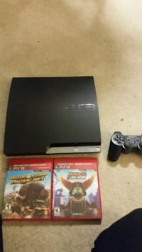 PS3 Slim like new w/ 2 games + controller, cables included Edmonton, T6J 1T5