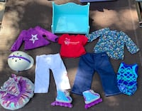 """American Girl 18"""" Doll Clothing, Accessories Lot"""