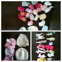 Infant baby girl socks headband and hats Painesville, 44077