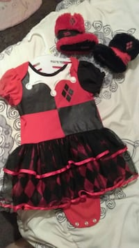 toddler's black and red dress