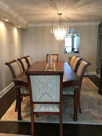 """108"""" solid wood dining table, includes 6 chairs and 2 arm chairs Vaughan, L4J 5T4"""