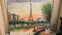 Romantic painting of the Eiffel Tower  Vancouver, V5Z