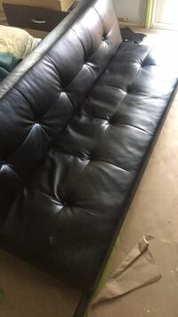 black leather tufted chaise lounge Barrie, L4M 3X8