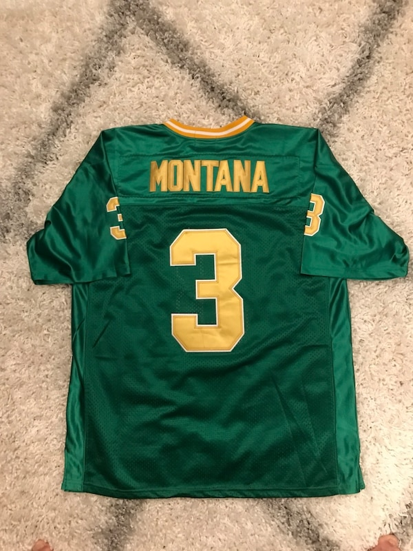 new concept 09616 fa9ea Mitchell and Ness Joe Montana Notre Dame Jersey