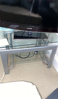 Glass TV table and/or TV