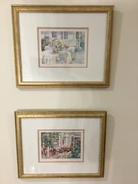 A pair of signed & framed Joyce Kamikura watercolour prints Toronto, M2P 1E4