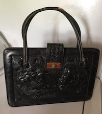 Vintage Hand Tooled Leather Handbag