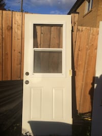 white wooden framed glass door Mississauga, L5J 4H2