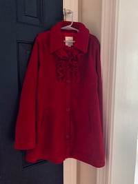 Girl size 10/12 red coat  Centreville, 20120