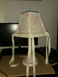 Pink desk lamp with shade California, 91605