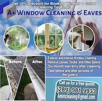 Window & Eaves Cleaning! Oakville