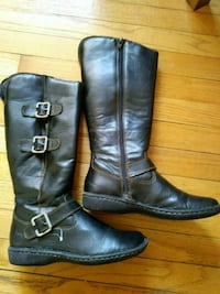 Black leather boots 7M
