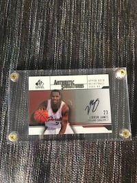 LeBron James Autographed Rookie Card Upper Deck Certified Reno, 89519