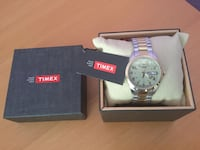 Brand New Timex Watch Water resistant 30m Stainless still bracelet  never worn, in box   price 70$, value of 120$