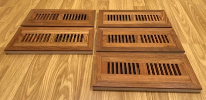 Jatoba / Brazilian Cherry Flush-Mount Floor Vent
