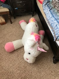 white and pink bear plush toy Little Elm, 75068