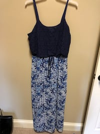 women's black and gray floral sleeveless dress Hoover, 35242