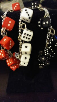 Dice bracelets one of each color only. $20.00 each Oklahoma City, 73107