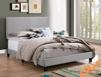SPECIAL] Erin Gray Upholstered Queen Bed | 5271   Houston, 77036