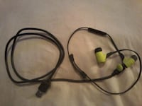 black and green corded headphones Surrey, V3W 3H3