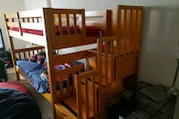 brown wooden bunk bed with mattress Silver Spring, 20910