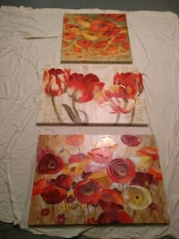 two red and yellow flower paintings Laurel, 20724