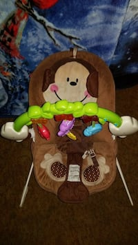 baby's brown, green, and white monkey bouncer chair Sunnyside, 98944