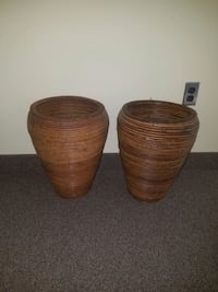 two brown wooden wicker baskets Springfield