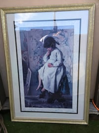 woman in white dress painting 2174 mi