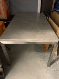 Crate and Barrel Concrete Top Stainless Steel Base 72x42 Dining Table.