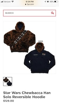 Chewbacca Star Wars reversible coat large Fairfax, 22032