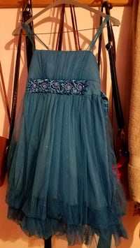 women's blue and black floral spaghetti strap dres West Falls Church, 22042