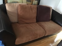 brown and black fabric loveseat Pointe-Claire, H9R 5L6